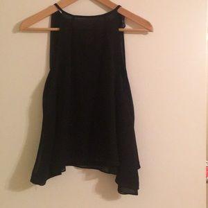 Zara basic women's chiffon blouse